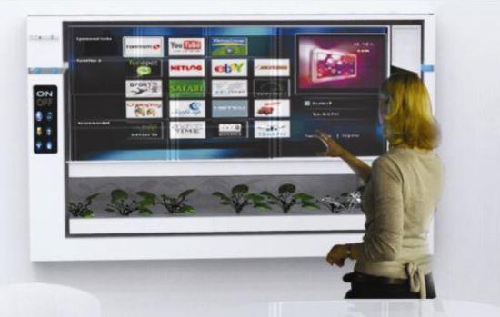 LCD Shaped Futuristic Refrigerator