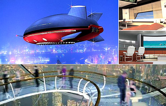 Ultra-luxury floating palace aircraft