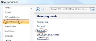 Make a holiday greeting cards with MS word